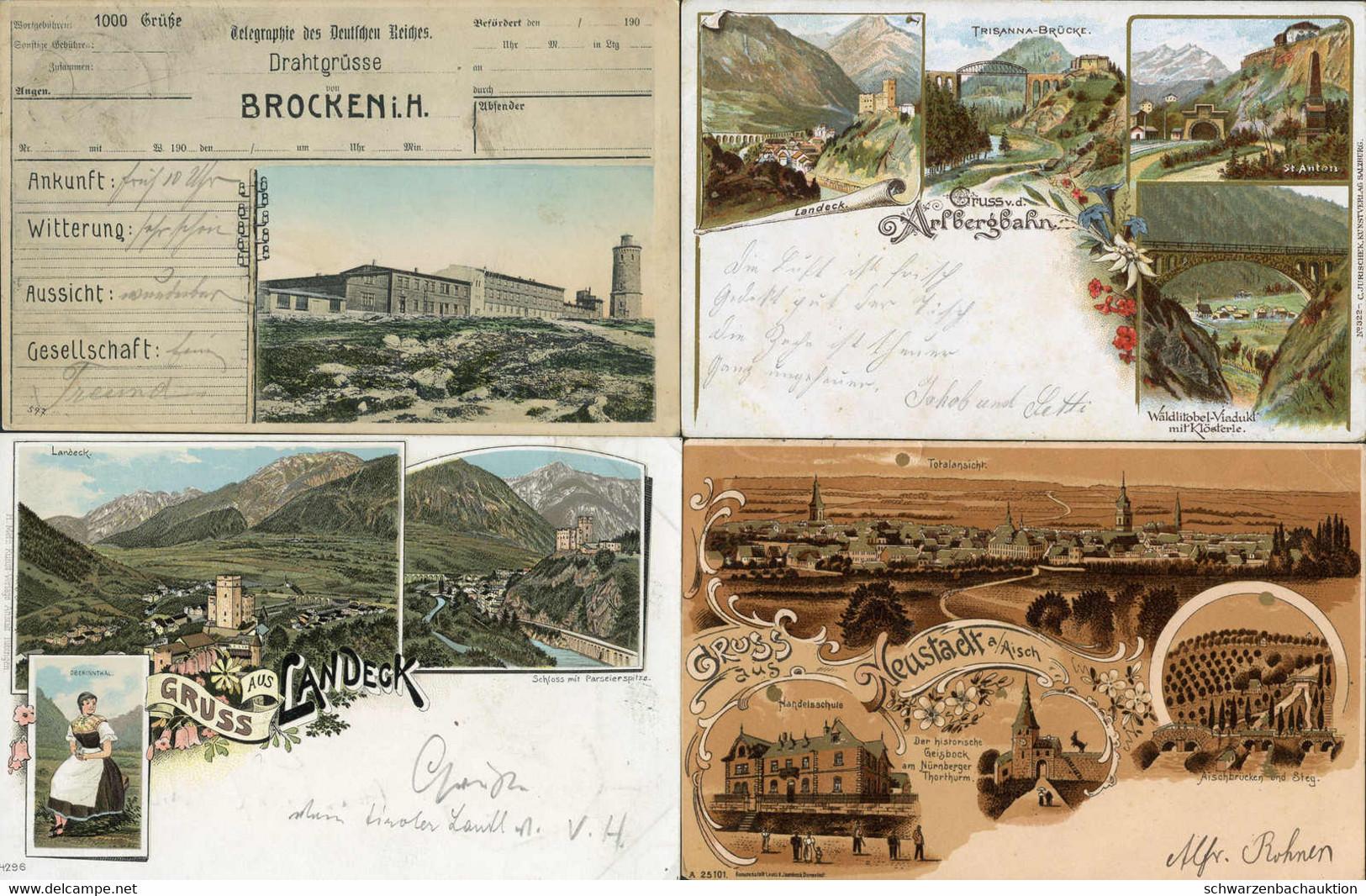 Posten Ca. 950 ANSICHTSKARTEN In 4 Alben, 200 Deutschland, 240 Österreich, 325 Glückwunschkarten U. 185 Eingeklebte Kart - 500 Postcards Min.
