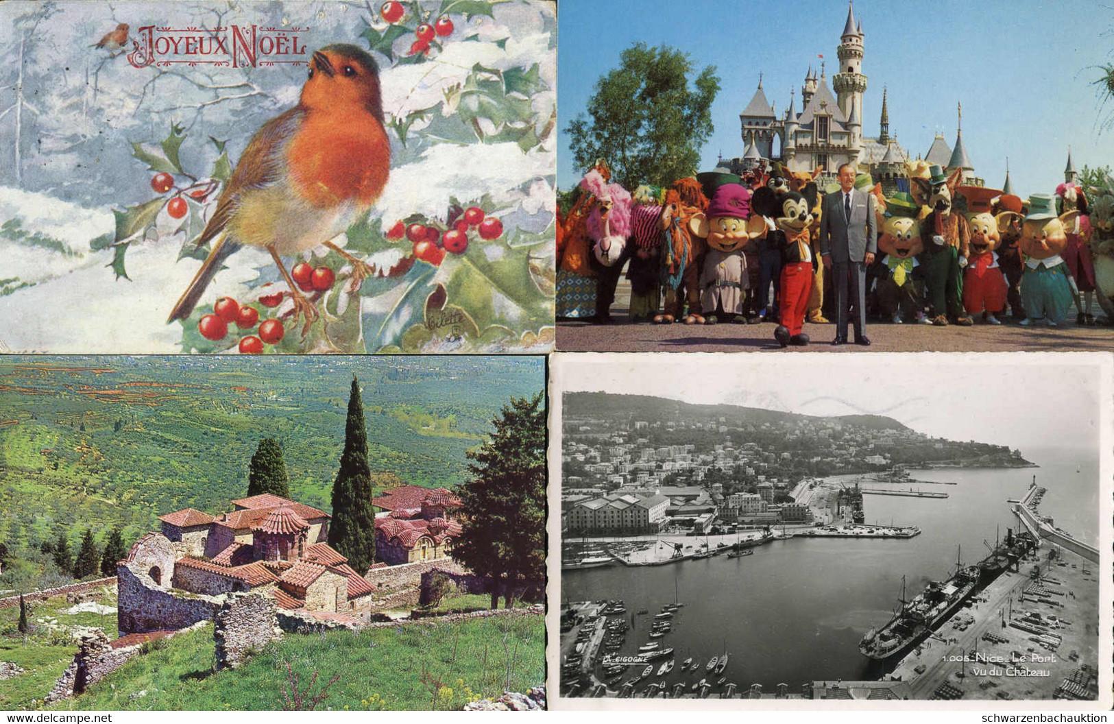 ANSICHTSKARTEN: Posten Ca. 1400 Karten Bunt Gemischt Ganze Welt, Vorwiegend Aber Westeuropa D, GB, F, I, A, Usw., Landsc - 500 Postcards Min.