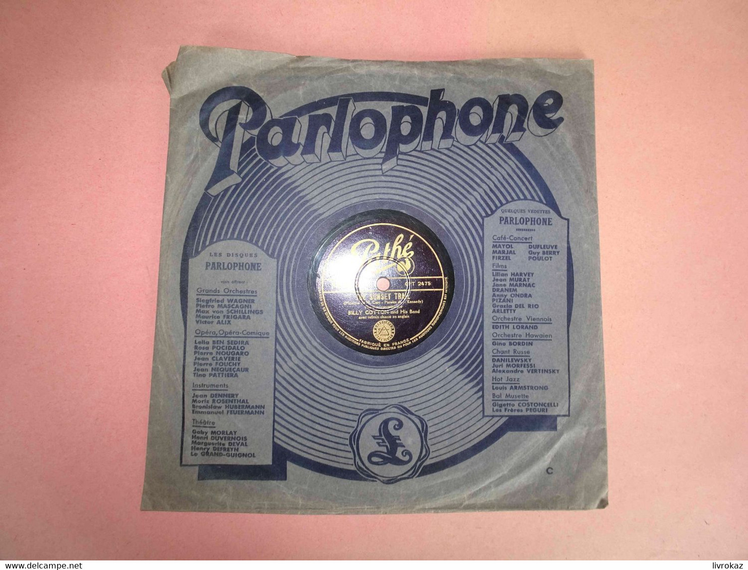 Billy Cotton And His Band, The Sunset Trail, The Music Goes Round And Around, 78 Tours Pathé - PA 823 - Parlophone - 78 G - Dischi Per Fonografi