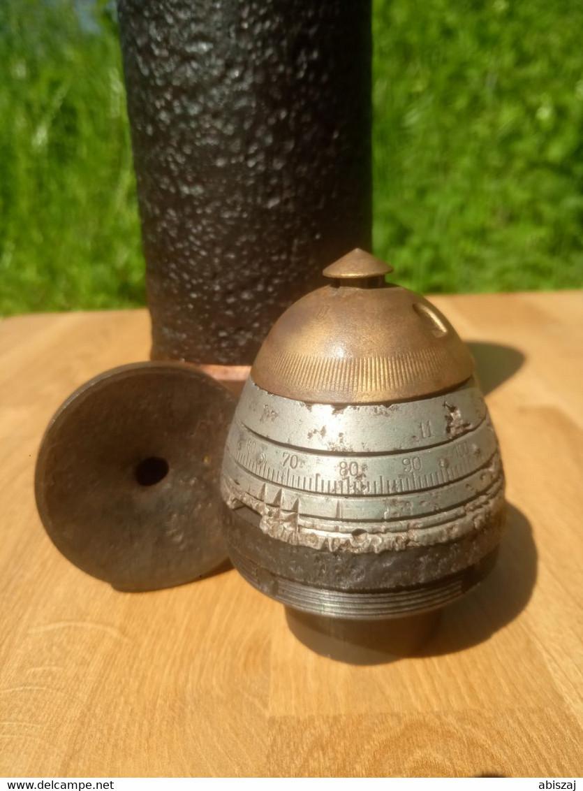 7,62cm Schrapnell WW1 Russia ...  Neutralisé  OBUS Projektil - Armi Da Collezione