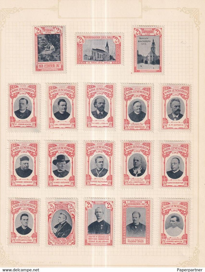 Austria German Österreich Poster Stamps Vignette Group  CATHOLIC - Nuevos