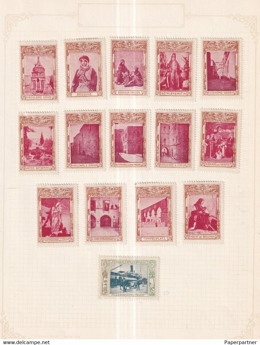 Austria Scarce German Österreich Poster Stamps Vignette Group JERUSALEM PILGER PILGAR PILGRIM - Nuevos