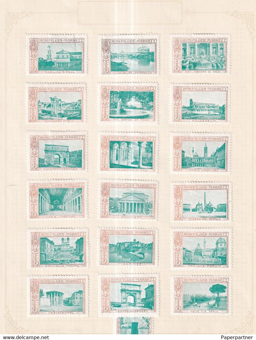 Austria Scarce German Österreich Poster Stamps Vignette Group ITALY ROM PILGER PILGAR PILGRIM - Nuevos