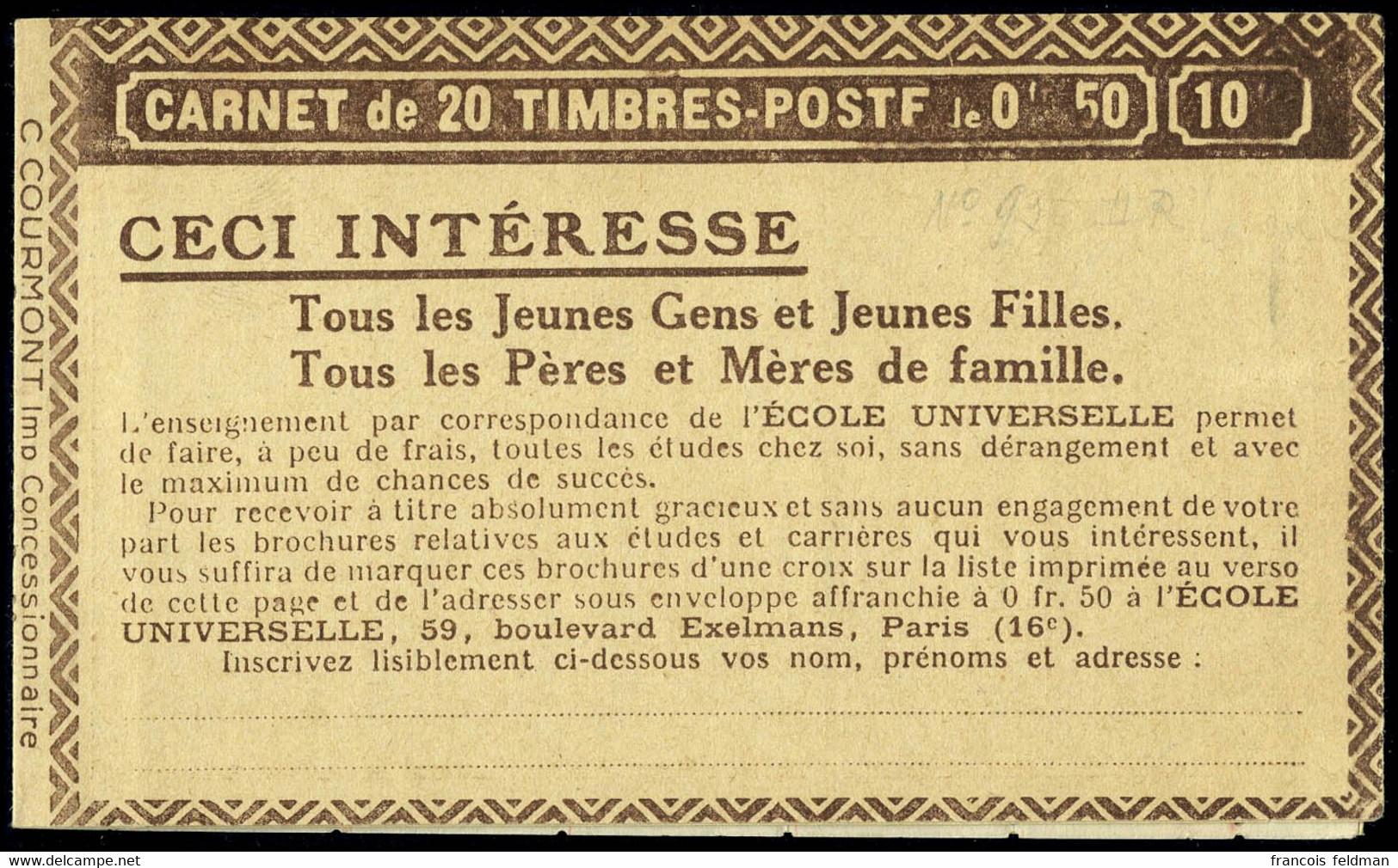 Neuf Sans Charnière N° 199-C67, 50c Rouge Semeuse Lignée, Benjamin-Moët-Grey Poupon-Benjamin, S.263, TB - Unclassified