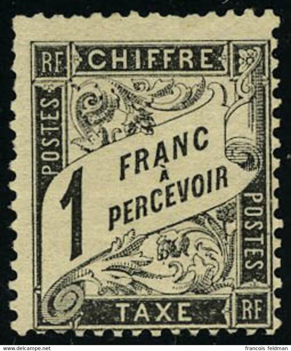 Neuf Sans Gomme N° 22, 1f Noir, T.B. Signé A.Brun - Sin Clasificación