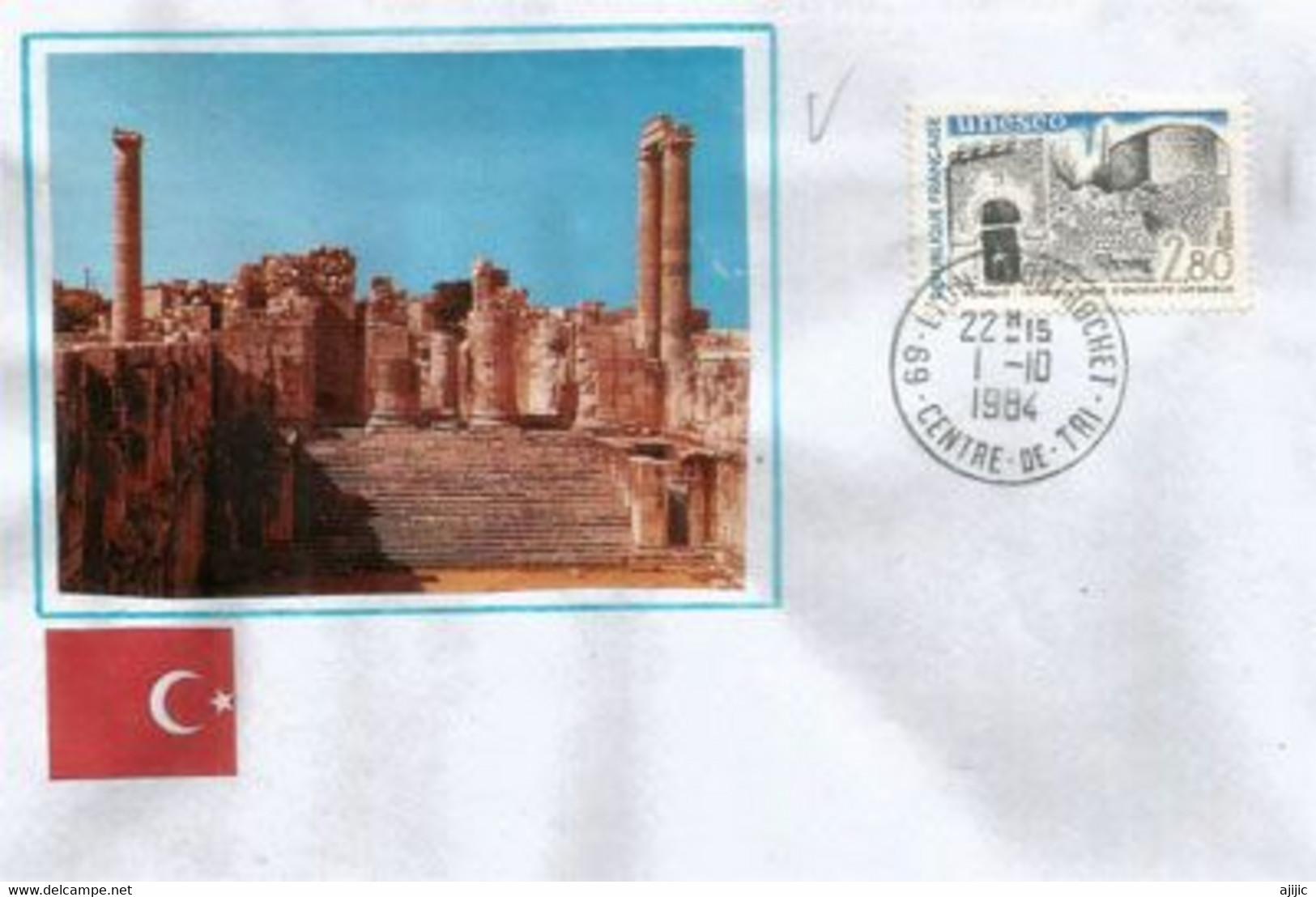 Istanbul - Mur D'enceinte Intérieur & Sites Archeologiques De Turquie.Patrimoine Mondial De L'UNESCO, Lettre - Archéologie
