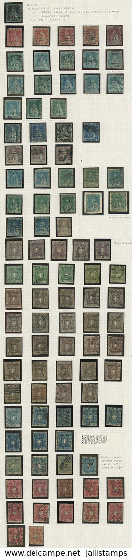 ITALY: Collection With Good Stamps On Album Pages, Used Or Mint, Mixed Quality (many With Minor Defects), Scott Catalog  - Toskana