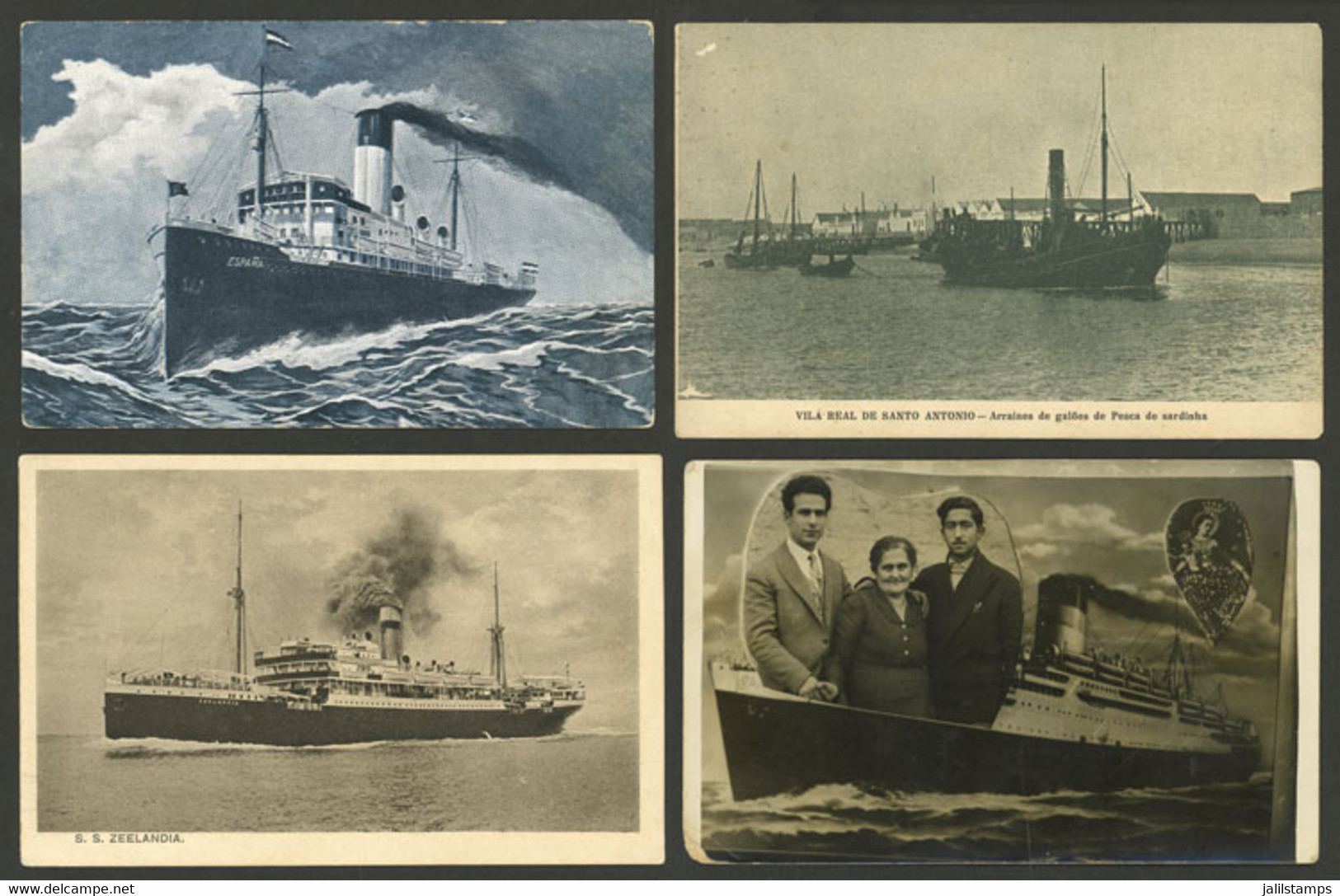 WORLDWIDE: SHIPS And PORTS: 56 Old Postcards Of Varied Countries, Fine To Very Fine General Quality, Including Many Good - Mundo
