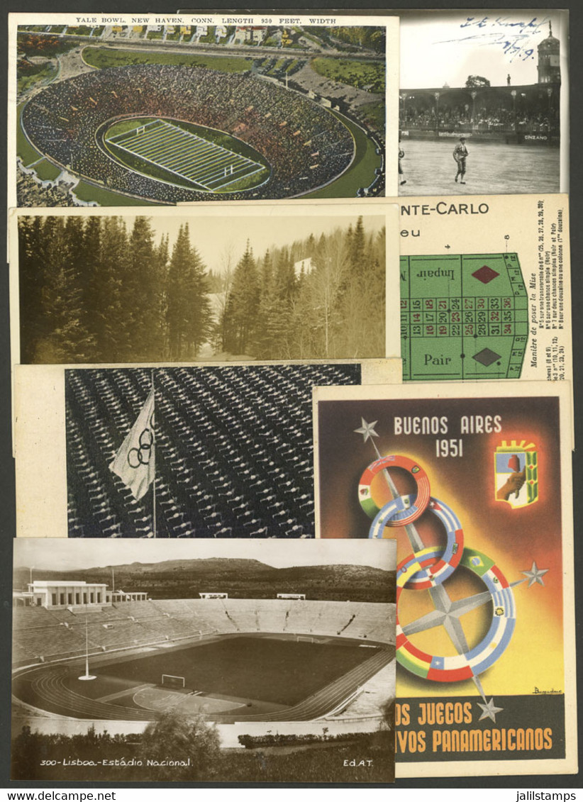 WORLDWIDE: SPORT: 7 Postcards Of Varied Countries And Periods, VF General Quality. ATTENTION: Please View All The Photos - Mundo
