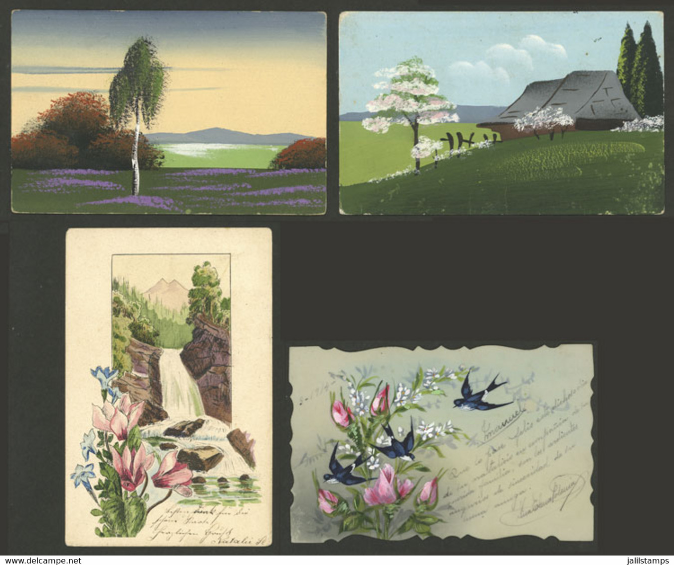 WORLDWIDE: HAND-PAINTED: 16 Old Postcards, Very Fine Quality, Good Opportunity At Low Start! ATTENTION: Please View All  - Mundo
