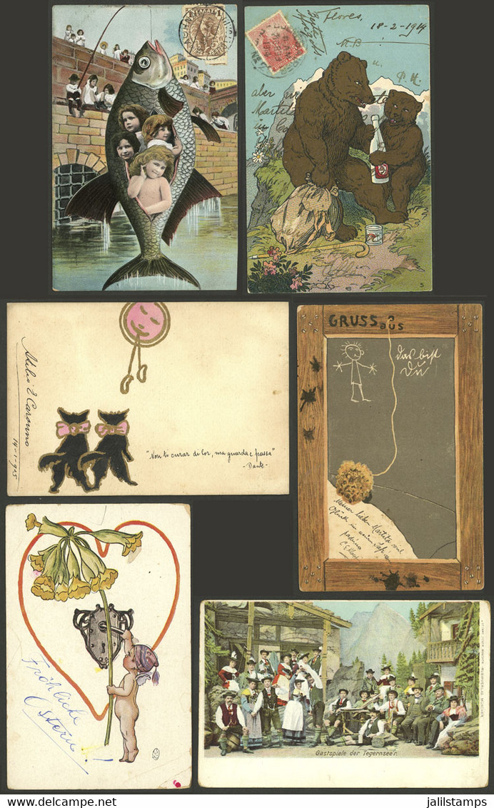 WORLDWIDE: 28 Old Postcards Of Varied Countries, Very Nice Motifs, Some Are Surely Rare And Of Good Market Value, The Ge - Mundo