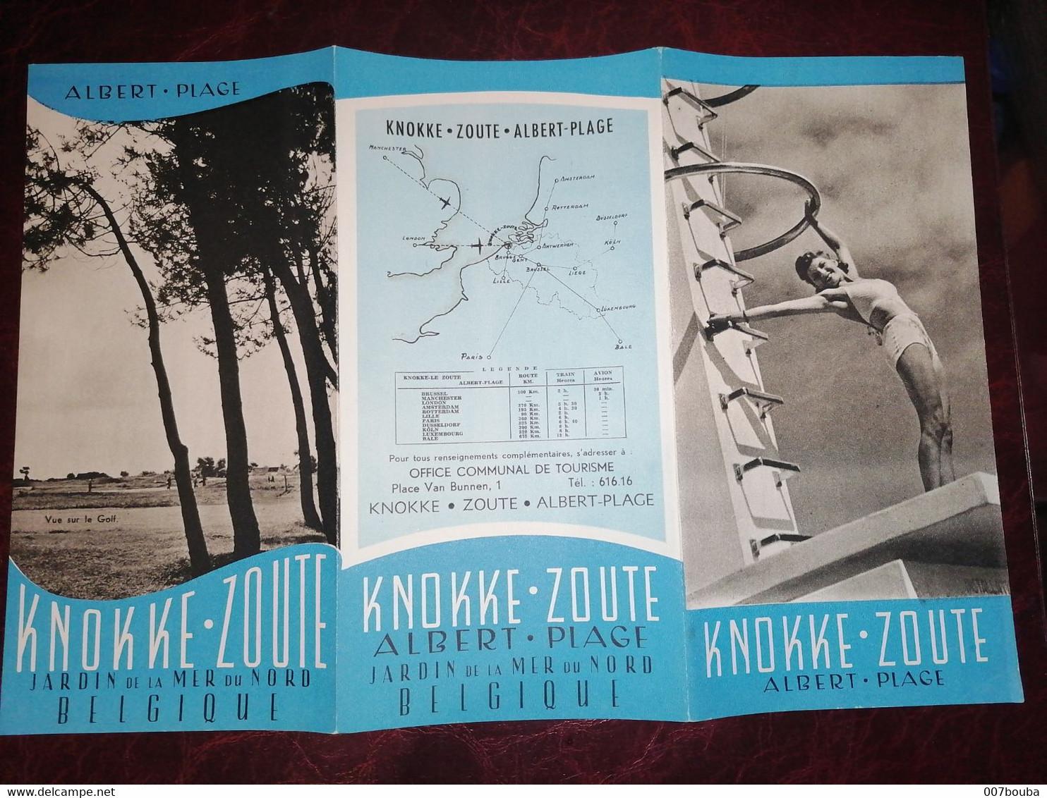 Knokke Zoute / Dépliant Touristique - Tourism Brochures