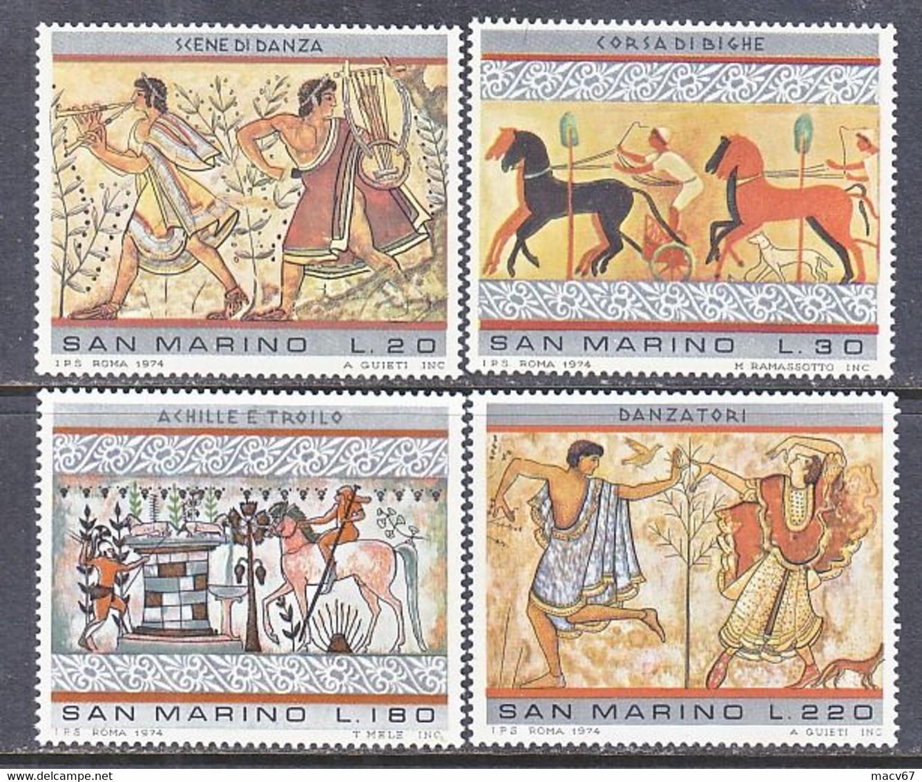 SAN  MARINO   854-57    **  ETRUSCAN  ART - Archéologie