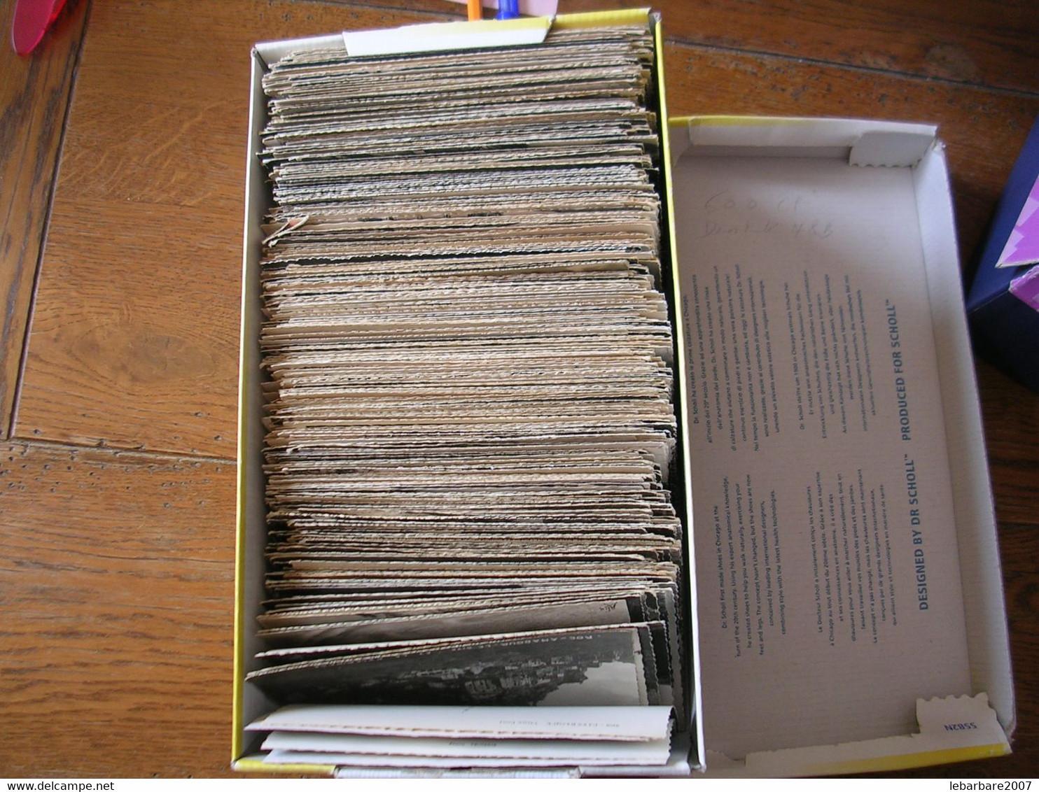 LOT DE + DE 600 CARTES POSTALES 10X15  Dentelée NOIR & BLANC ( VRAC ) - 500 Postcards Min.