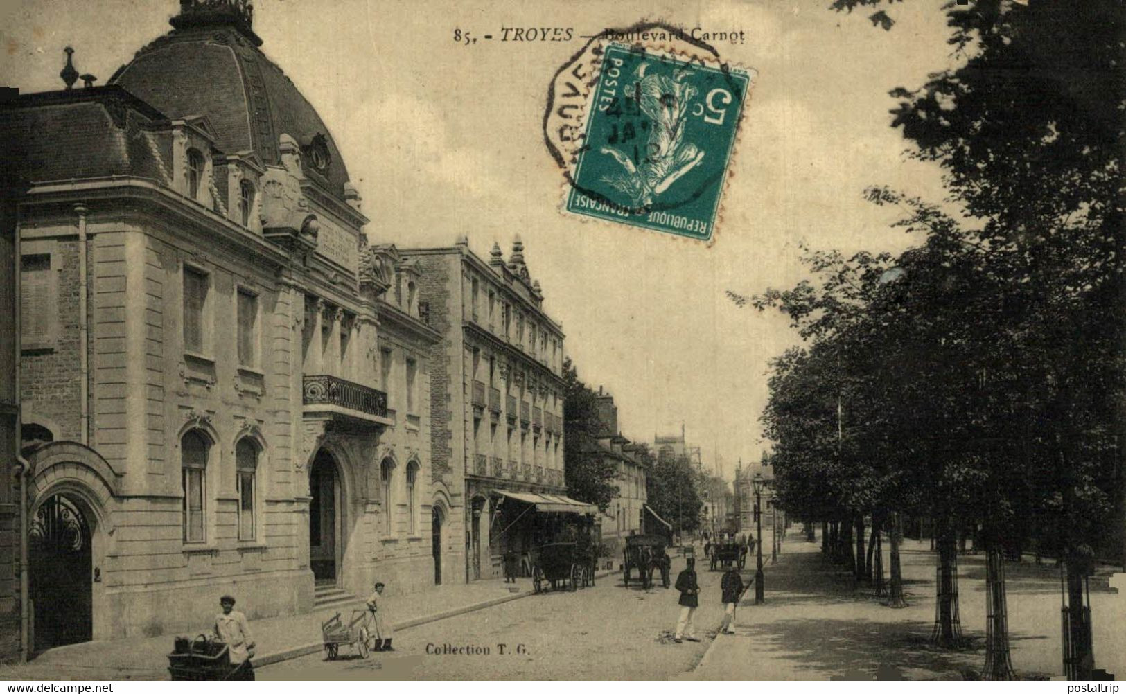 Troyes Boulevard Carnot  10Aube France Frankrijk Francia - Troyes