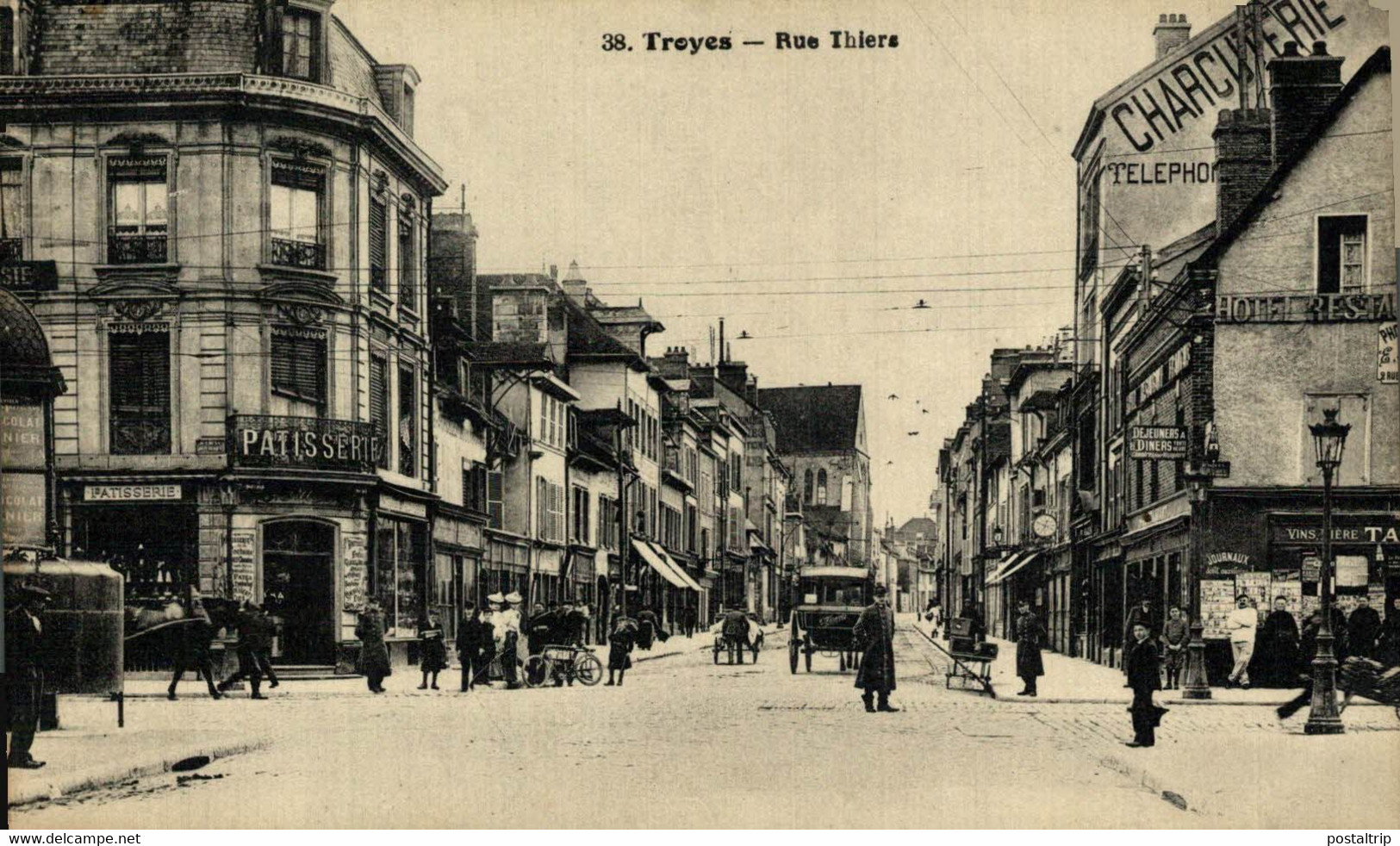 Troyes Rue Thiers 10Aube France Frankrijk Francia - Troyes