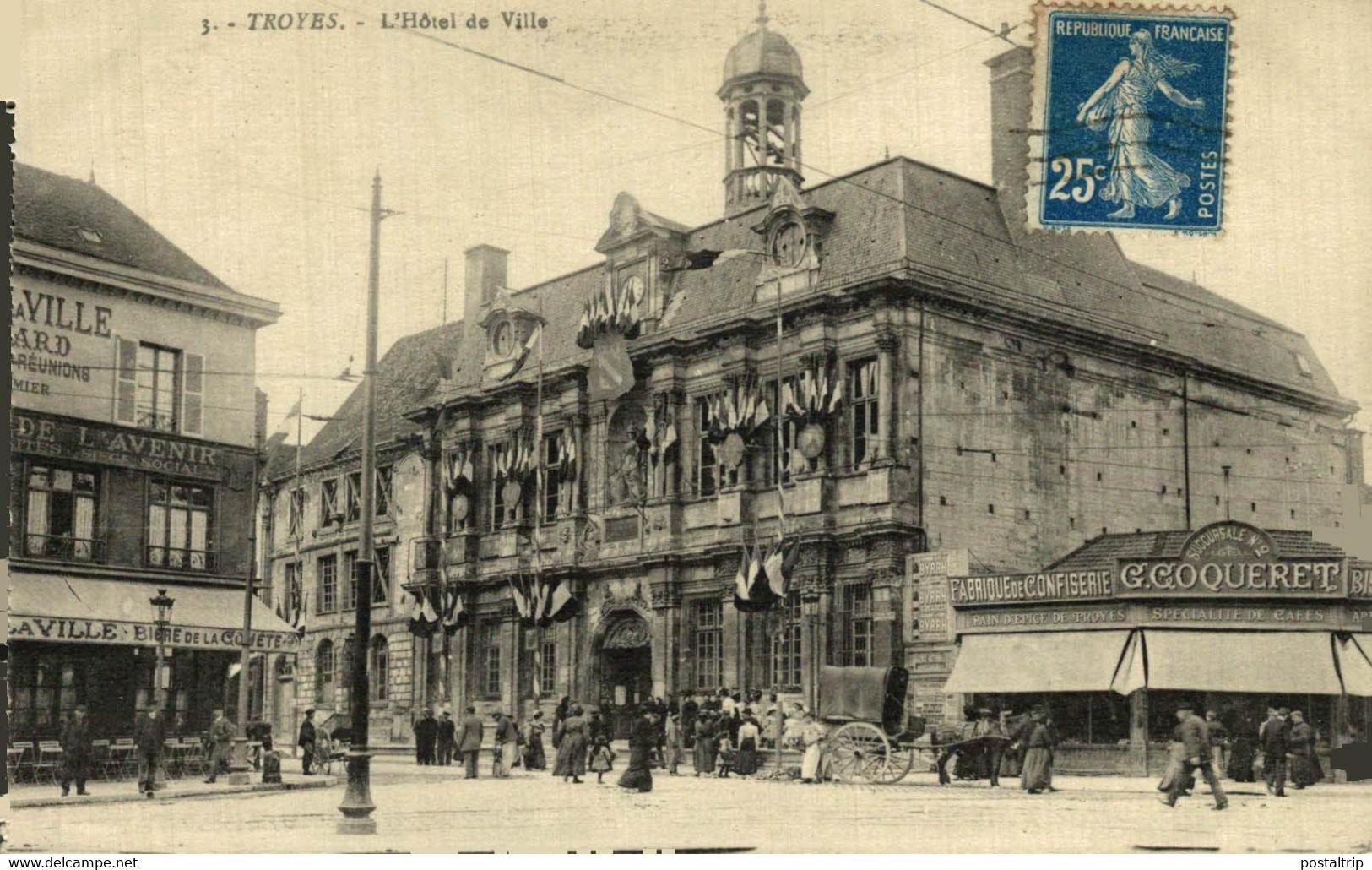 Troyes L'Hotel De Ville  10Aube France Frankrijk Francia - Troyes
