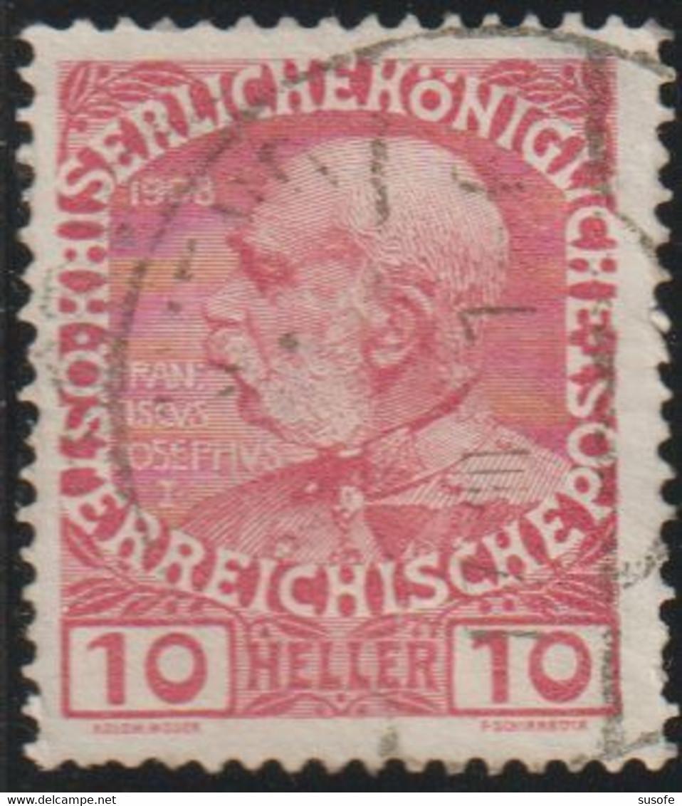 Austria 1908 Scott 115b Sello º Personajes Emperador Franz Joseph (1848-1916) Michel 144vx Yvert 106 Stamps Timbre - Usados