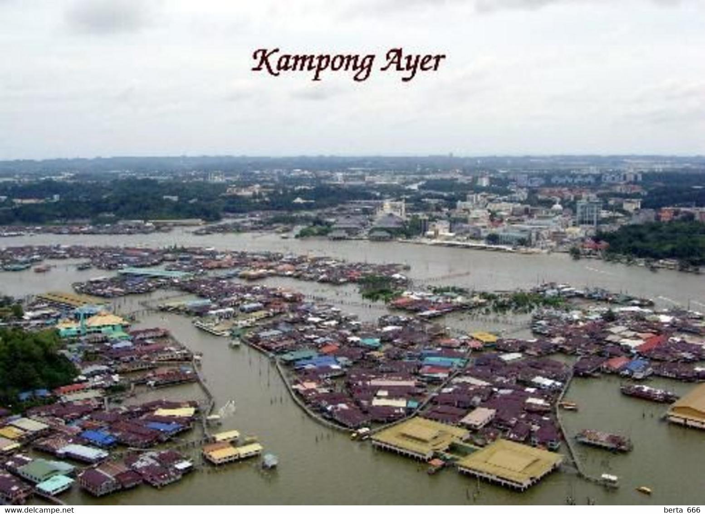 Brunei Kampong Ayer Aerial View New Postcard - Brunei
