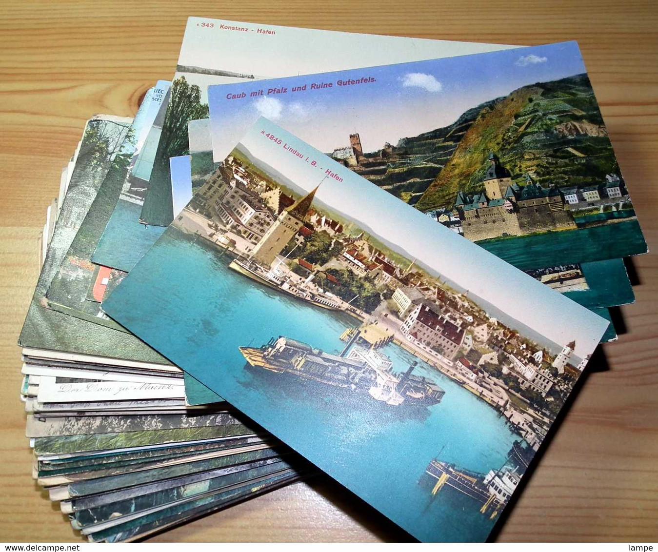 Ca. 2100 Alte Deutsche Ansichtskarten Vor 1945,  8,8 Kg - 500 Postcards Min.