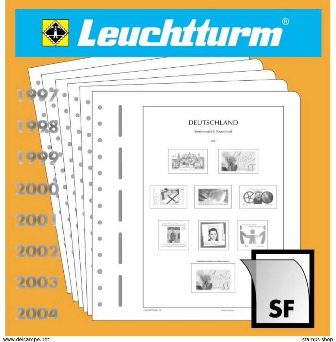 Leuchtturm Nachtrag Deutschland Markenheftchen 2014 SF Mit Taschen Neu - Pre-printed Pages