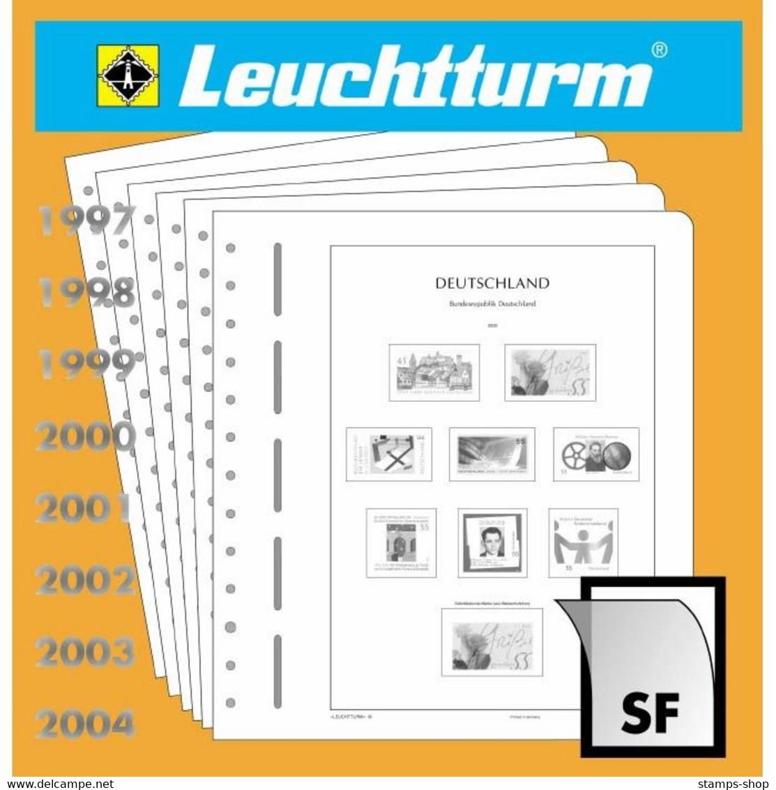 Leuchtturm Nachtrag Deutschland Waagerechte Paare 2001 SF Mit Taschen Neu - Pre-printed Pages