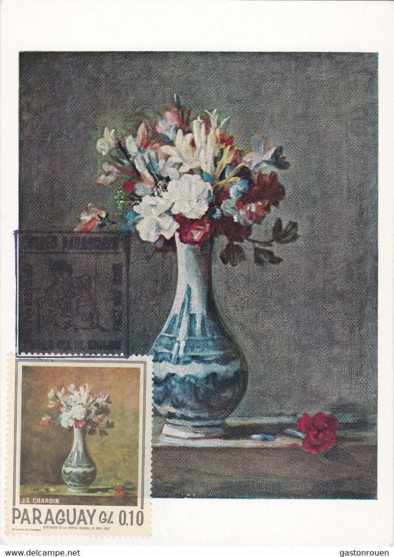 Carte Maximum Painting Peinture Paraguay Chardin - Paraguay