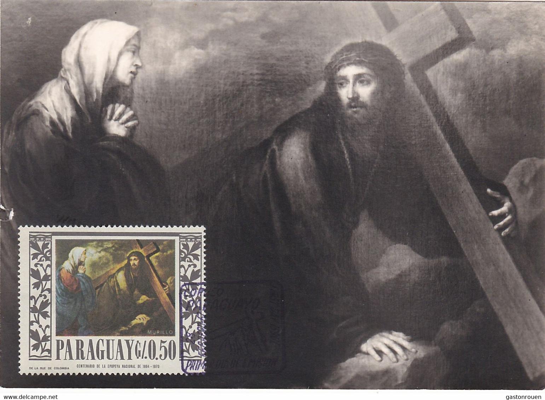 Carte Maximum Painting Peinture Paraguay Murillo - Paraguay