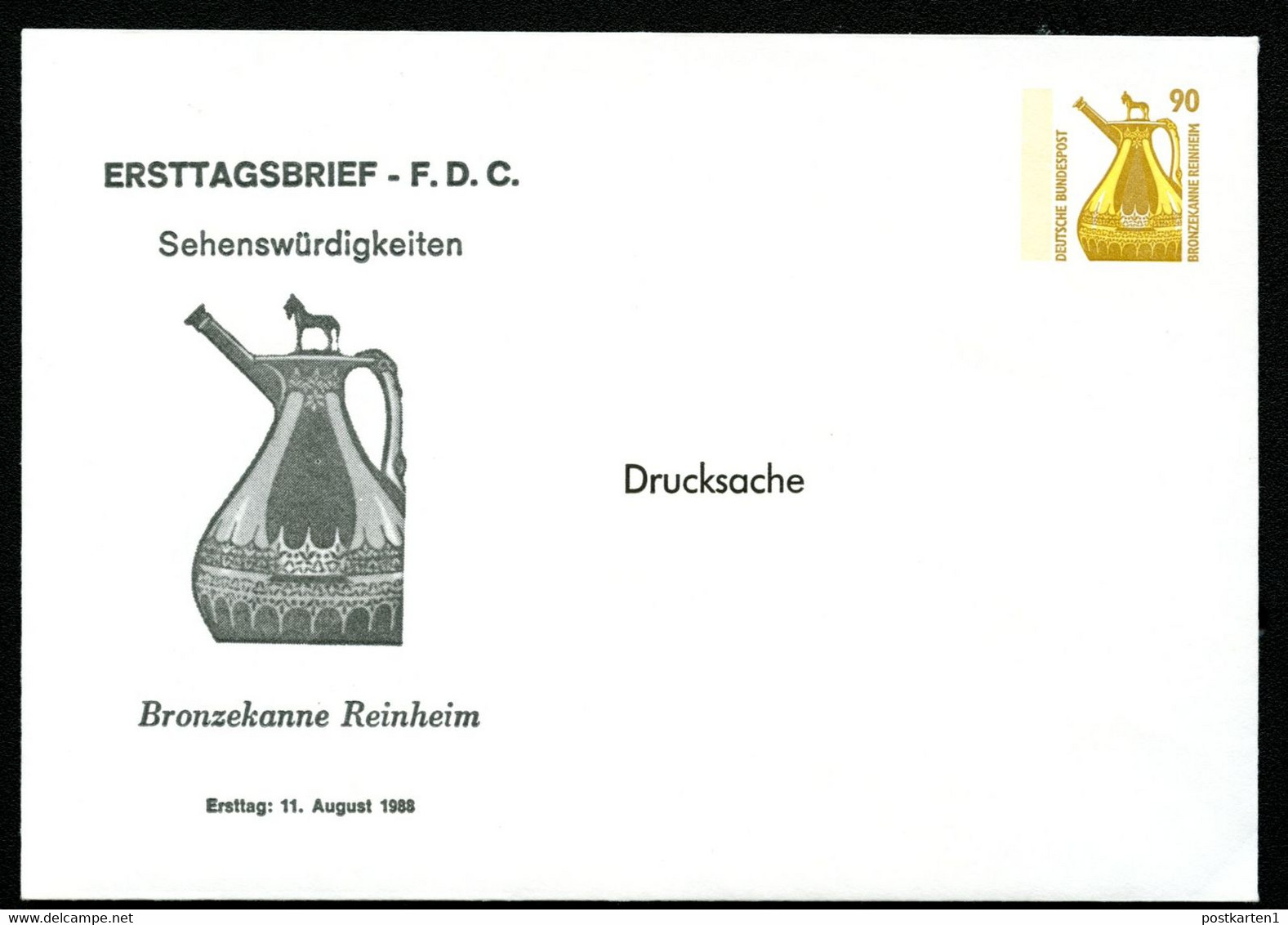 BRONZEKANNE REINHEIM Bund PU289 D1/001 1988 NGK 5,00€ - Archéologie