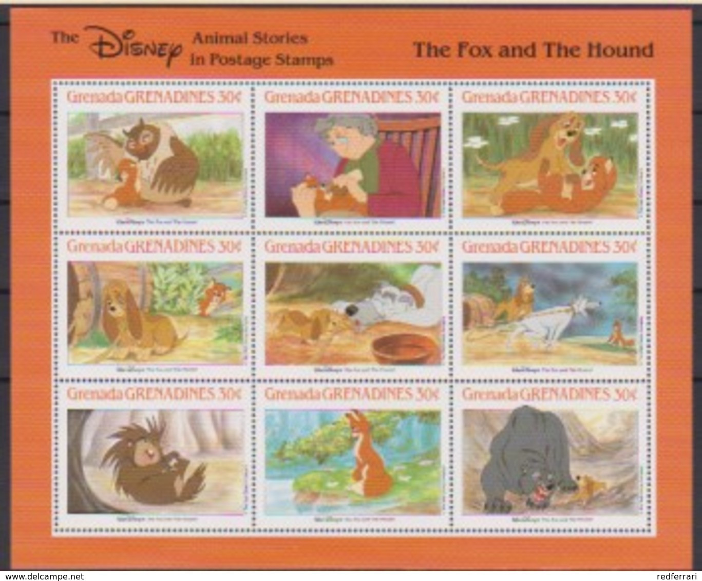 2512  Walt Disney  Grenada  Grenadines  The Fox And The Hound - Grenada (1974-...)