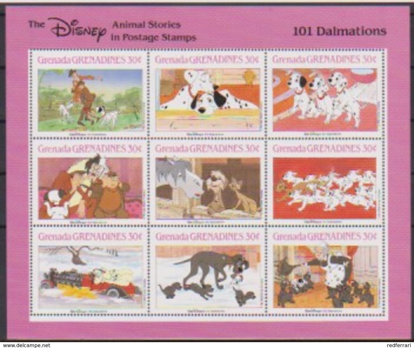 2514  Walt Disney  Grenada  Grenadines  101 Dalmations . - Grenada (1974-...)