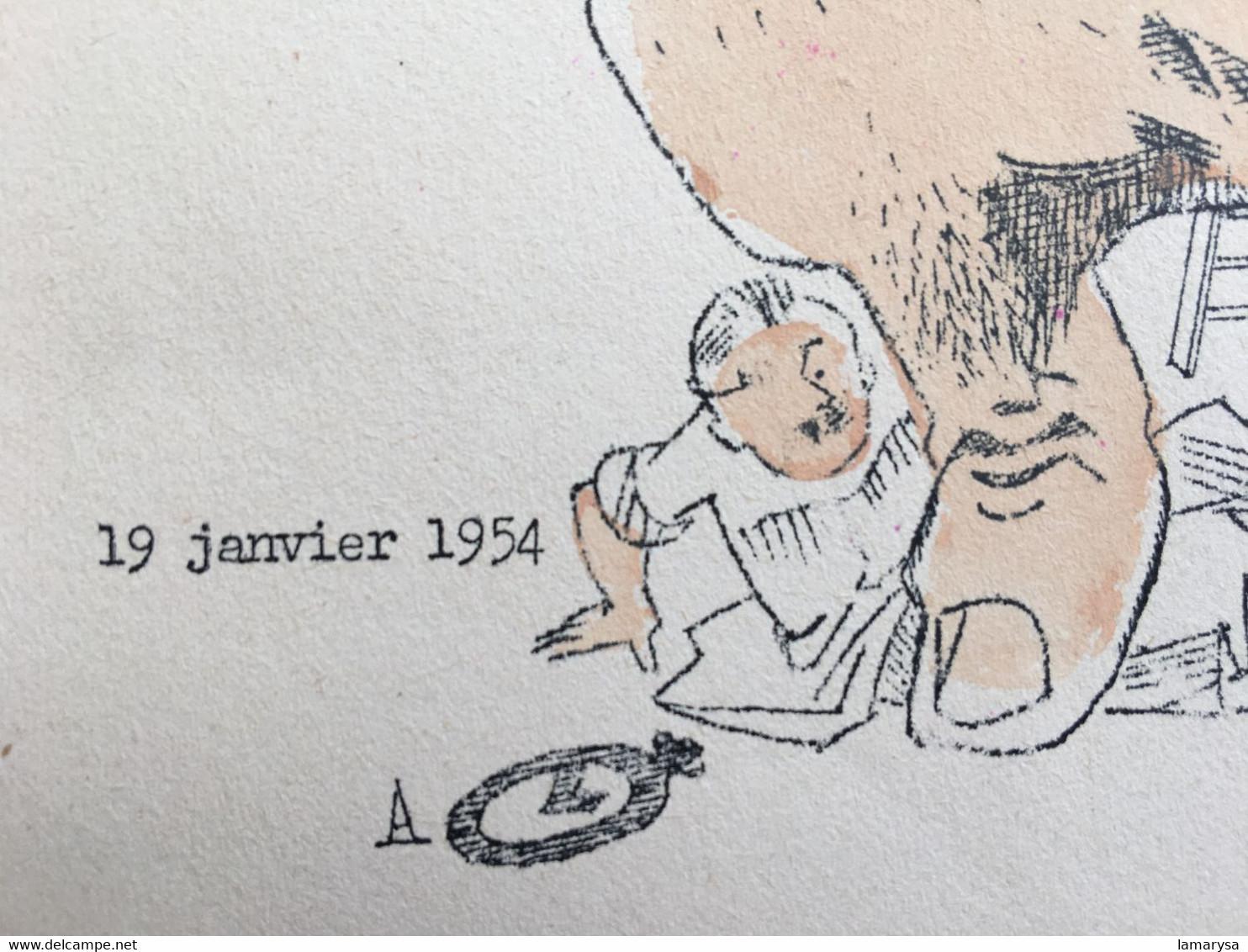 PROPAGANDE POLITIQUE SUISSE 19 Janv. 1954 -☛Publicité Satirique Anti....Patriotique Discours RUBATEL Foire De Bâle - Organizaciones