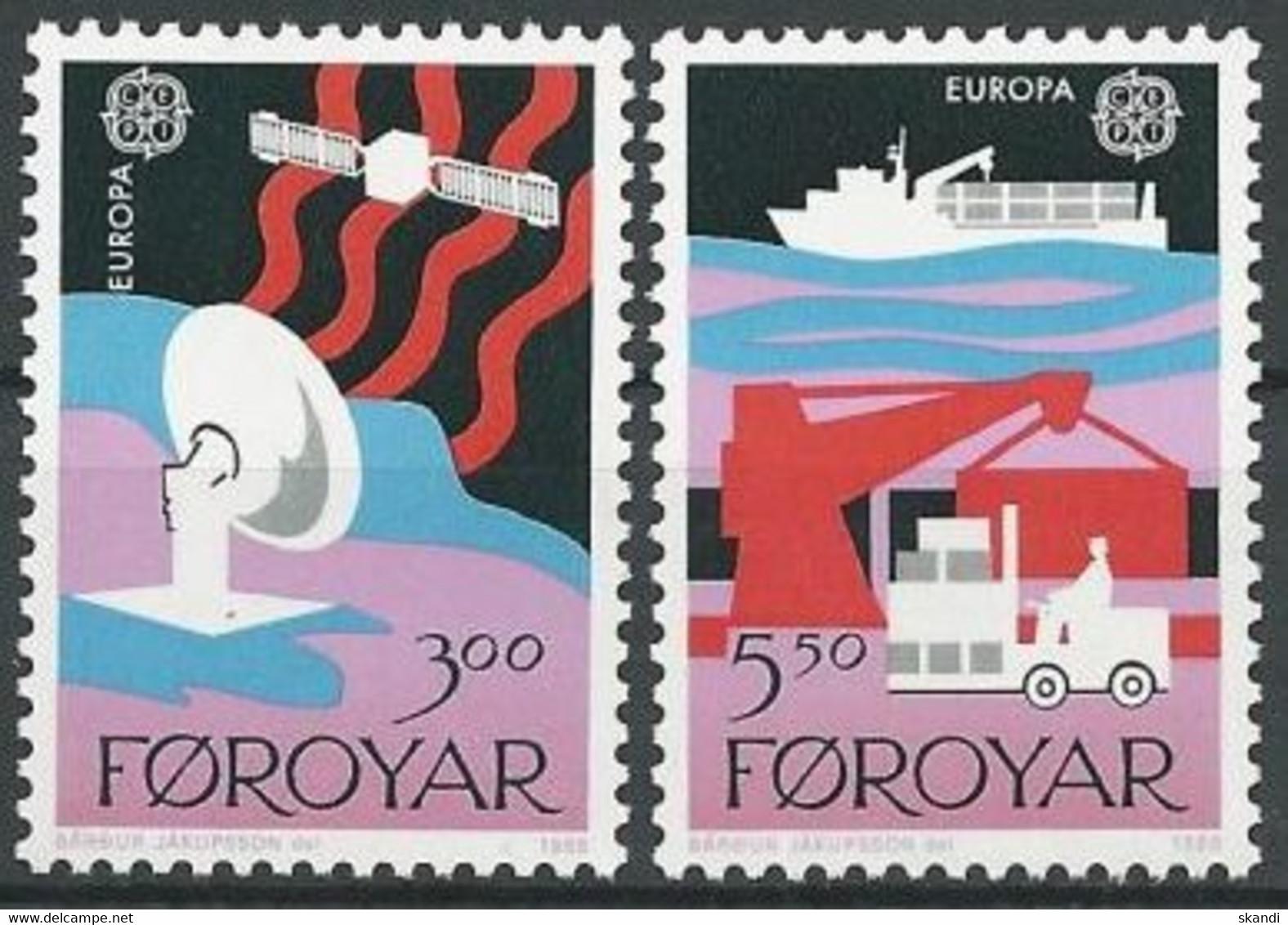 FÄRÖER 1988 Mi-Nr. 166/67 ** MNH - Faroe Islands