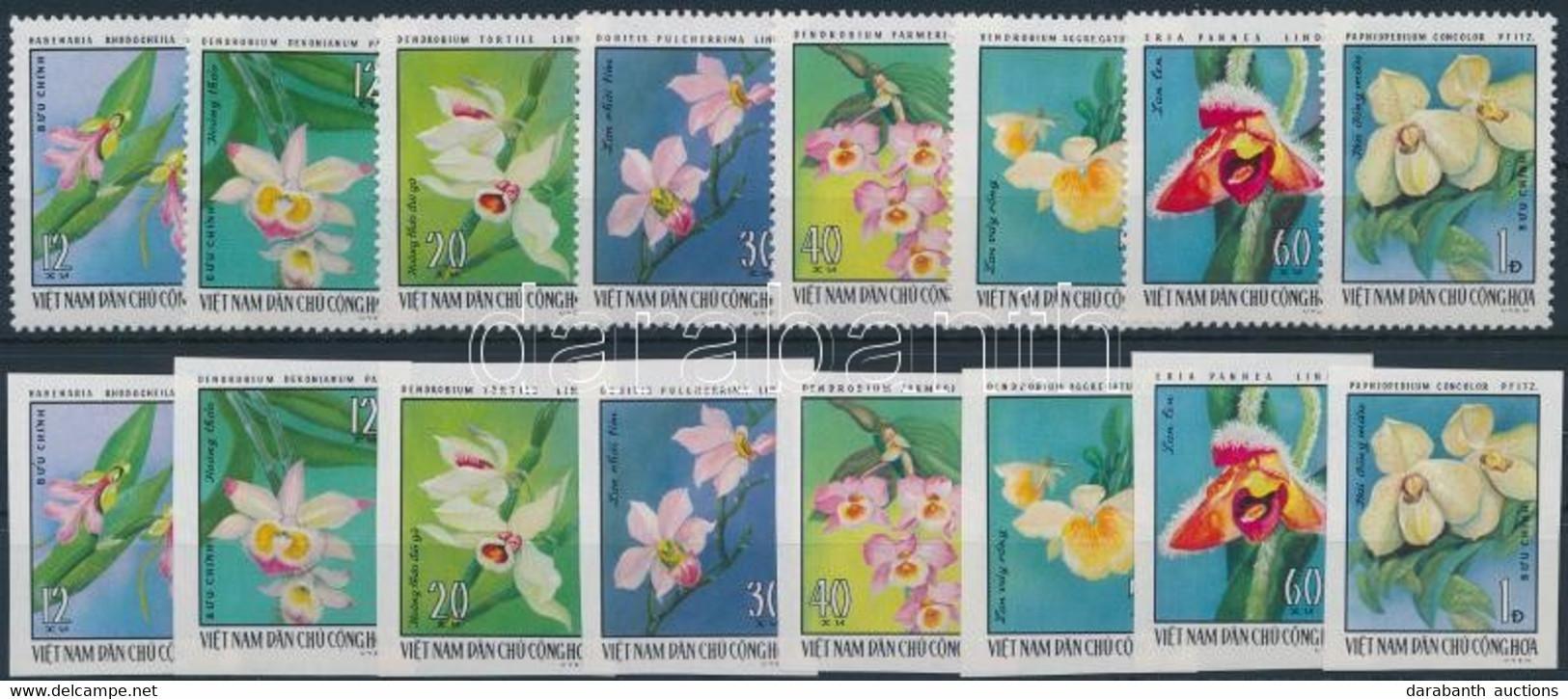 ** 1976 Orchideák Fogazott és Vágott Sor Mi 857-864 - Unclassified