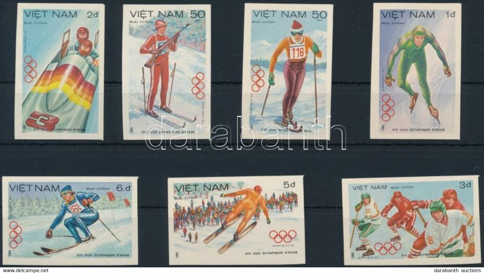 ** 1984 Olimpia Vágott Sor Mi 1402-1408 - Unclassified