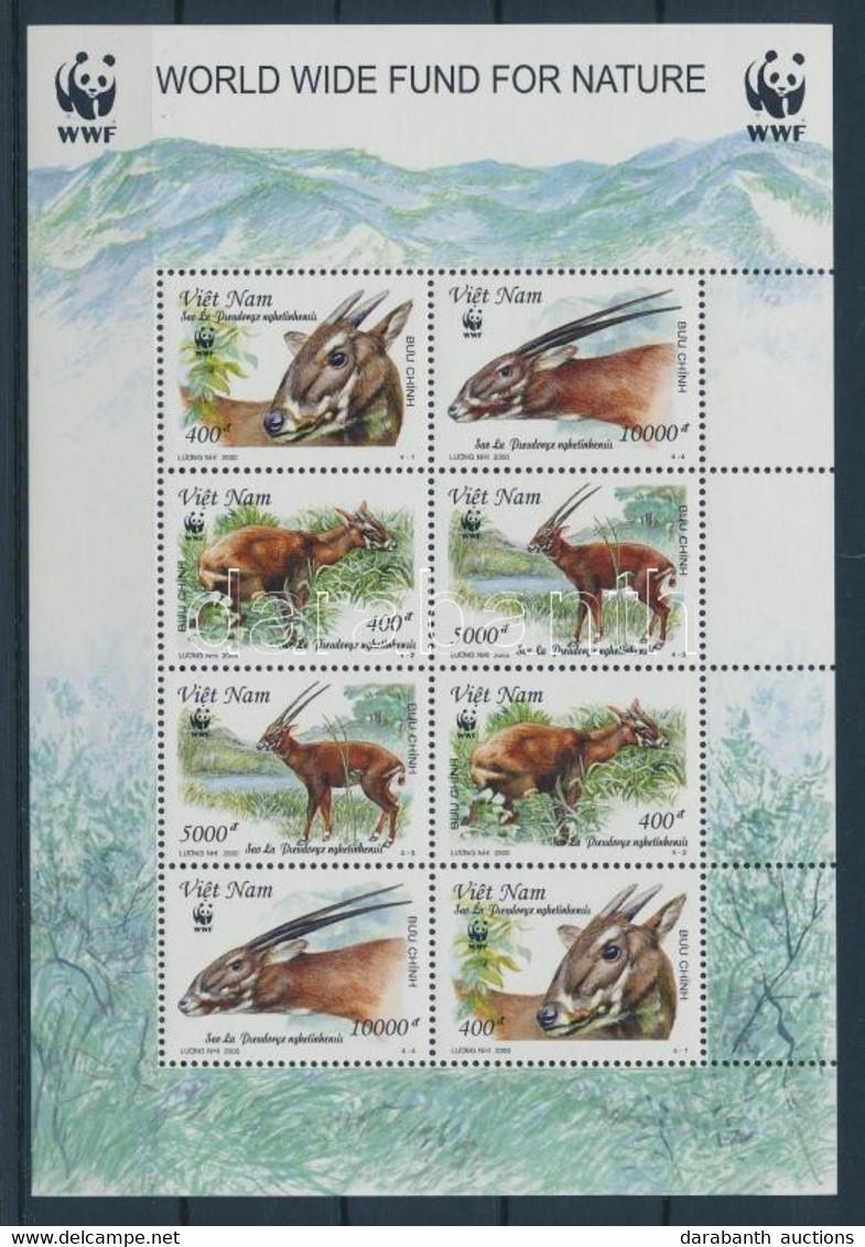 ** 2000 WWF Antilopok Kisív Mi 3063-3066 - Unclassified