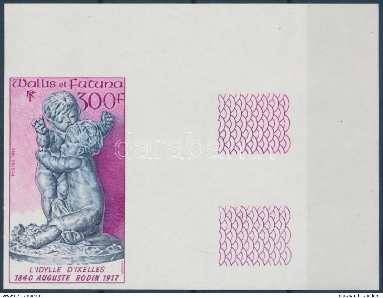 ** 1992 Auguste Rodin Halálának 75. évfordulója Vágott ívsarki Szelvényes Bélyeg Mi 632 - Unclassified