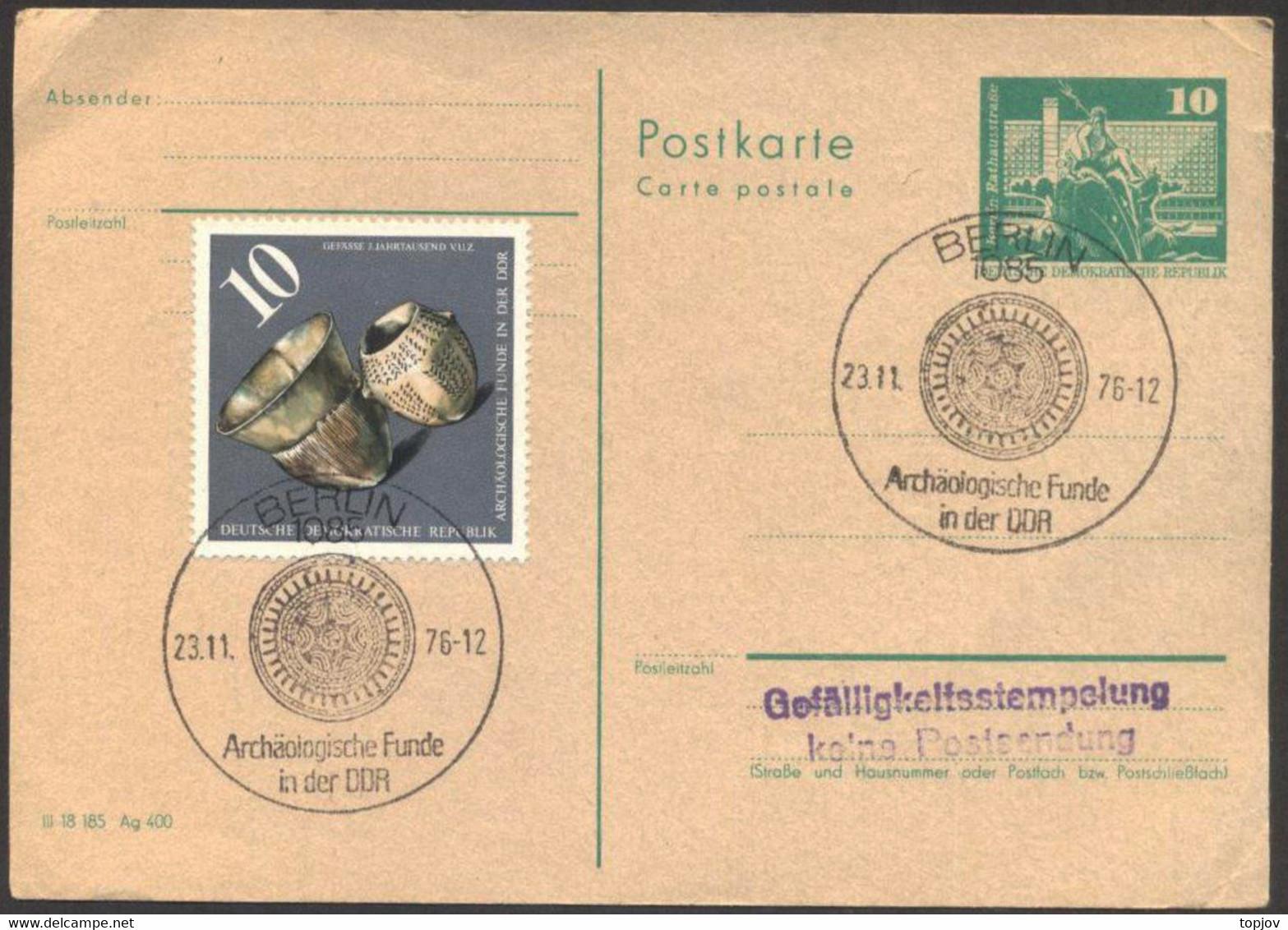 DDR - ARCHAOLOGISCHE  FUNDE - BERLIN - 1976 - Archéologie
