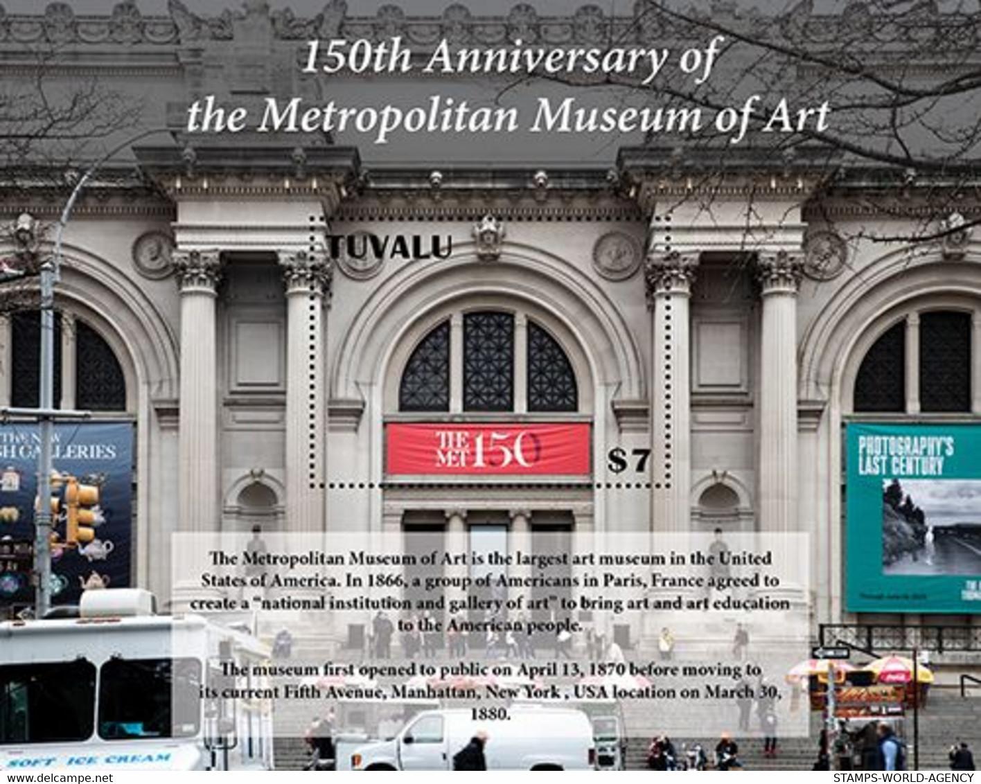 2020/12- TUVALU - METROPOLITAN MUSEUM 150TH    1V   MNH ** - Archéologie