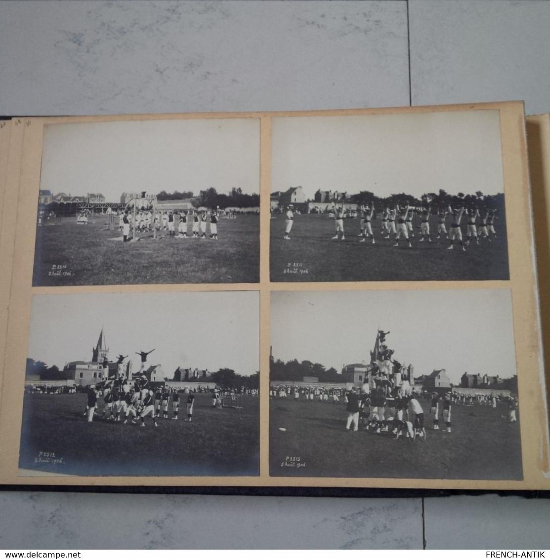 ALBUM PHOTO DE FAMILLE LE HAVRE MACHINE PECHEUR WATER POLO BALLON ET ACROBATE GYMNASTIQUE NU NOUVELLE CALEDONIE - Albums & Collections