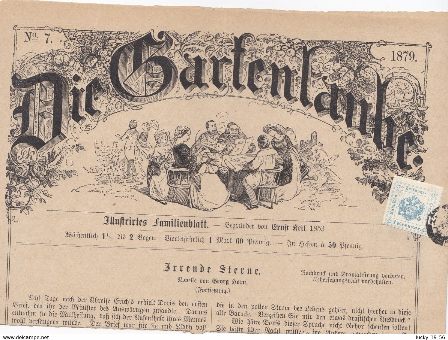 1879 Interessante Foglio Giornale Con 1 Kreuzer Verde Per Zeitungs ( Si Spedisce Piegato) - Sin Clasificación
