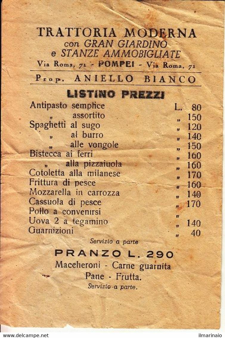 ** TRATTORIA MODERNA,, POMPEI.- (NA).-** - Italy