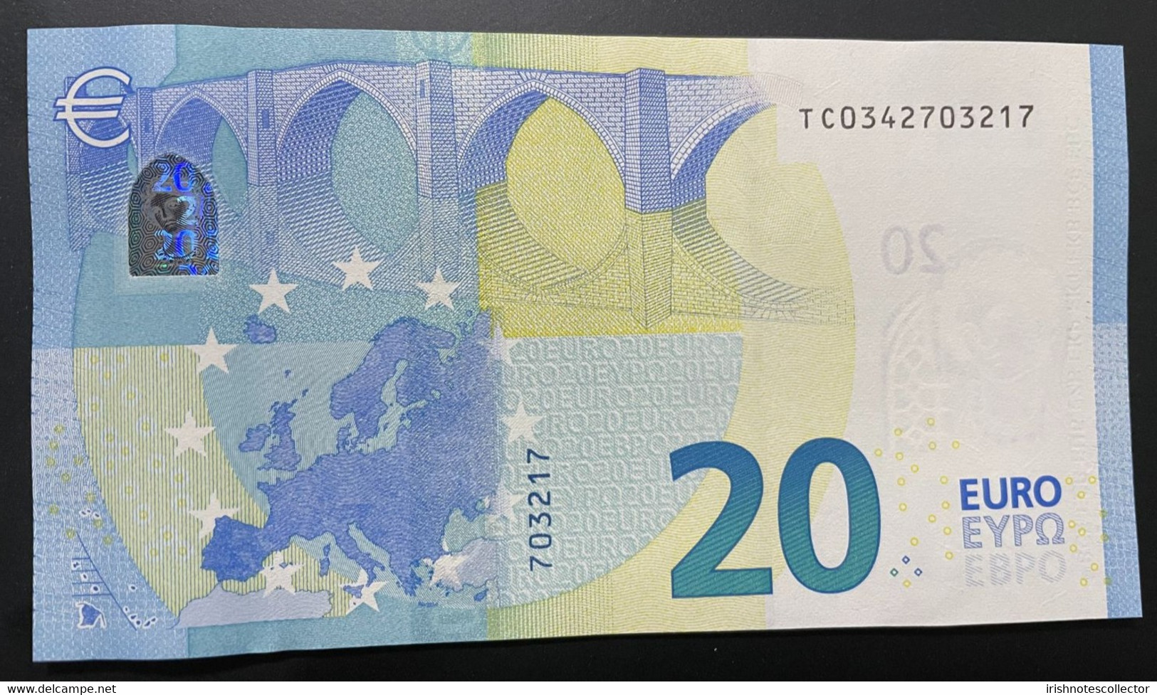 Rare Printecode T008B4 UNC € 20 Euro Draghi Ireland European Union 2015 Irlanda - 20 Euro