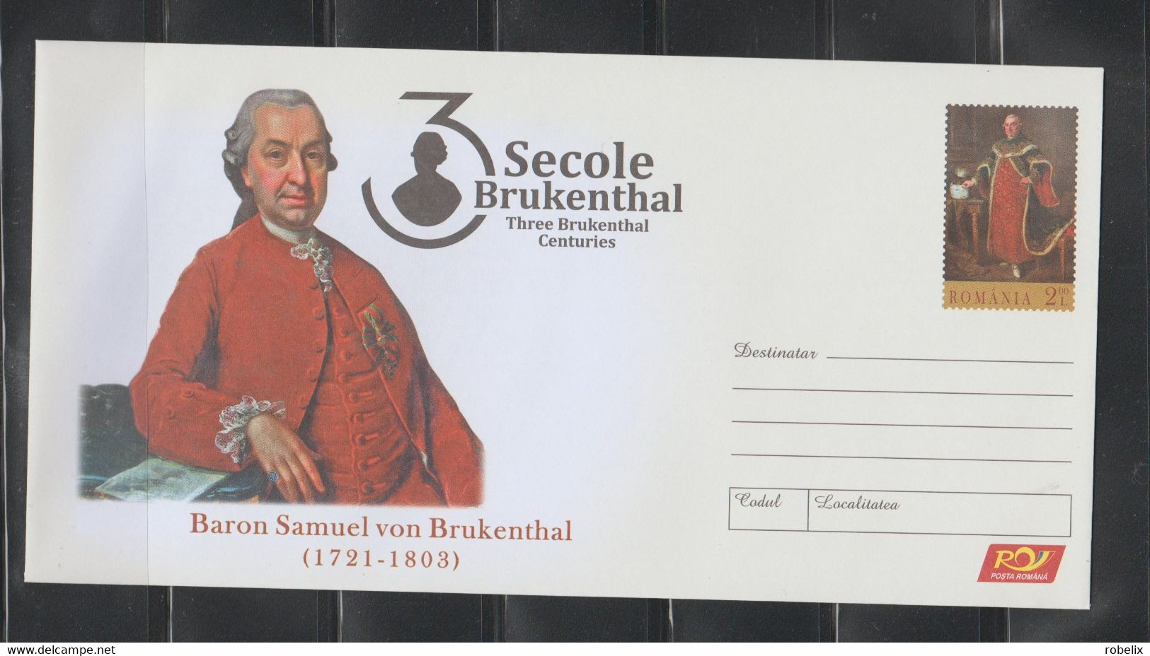 ROMANIA 2021 Baron Von Brukenthal-300 Years Since His Birth-Founder Of The SIBIU National Museum Of Art Cover Stationery - Entiers Postaux