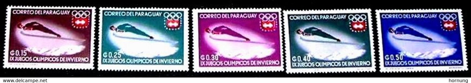 Paraguay,1964,  IX  Olympic Games In Insbruck 1964.MNH. Michel No. 1294-1253 - Paraguay
