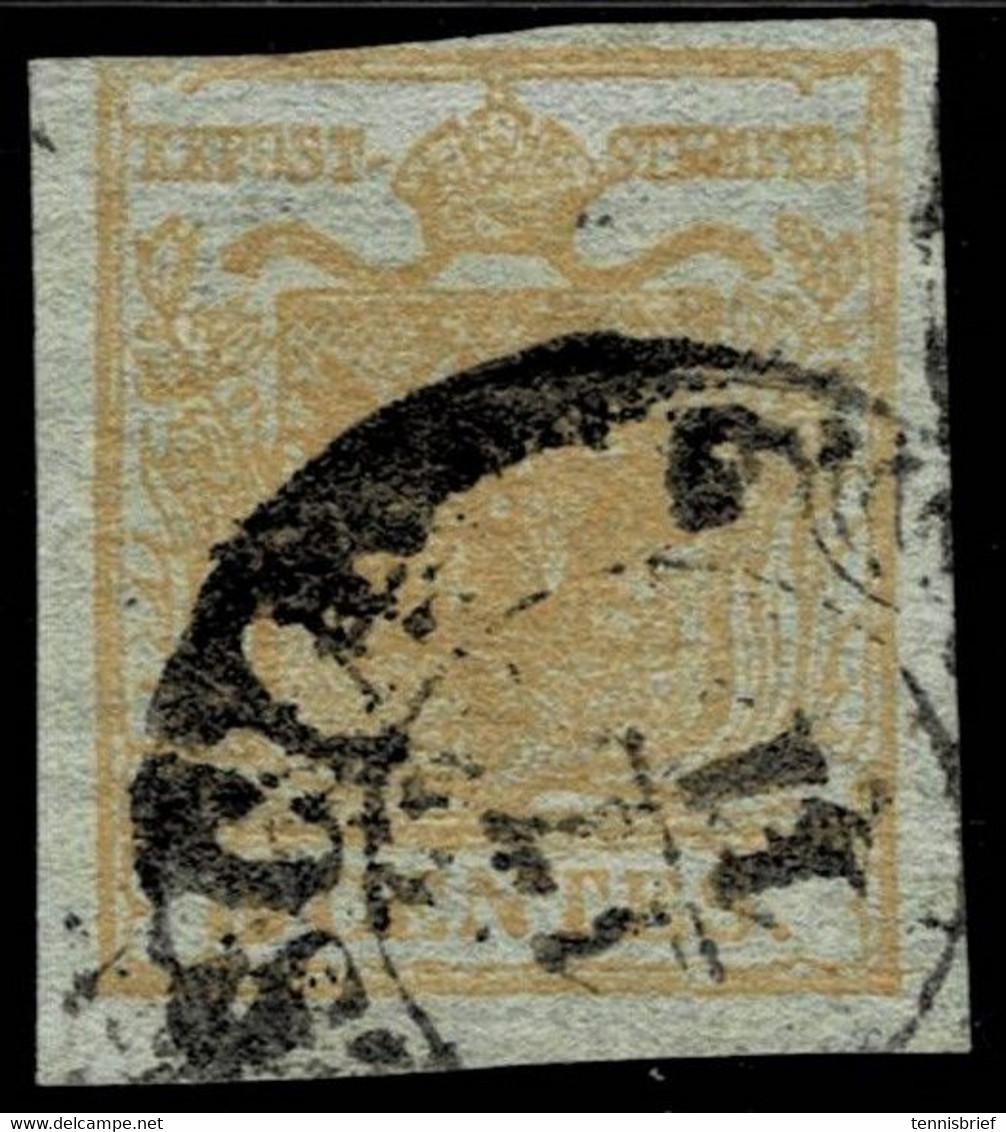 Lomb. Ven. 1850, Nr. 1, Rs. Doppels. Druck, Ferchenbauer 200.-,  A4830 - Usados
