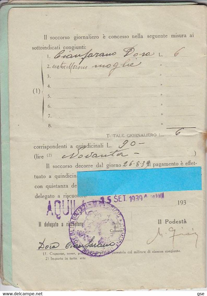 LIBRETTO  1939 - Soccorso Famiglie Militari -.- - Italy
