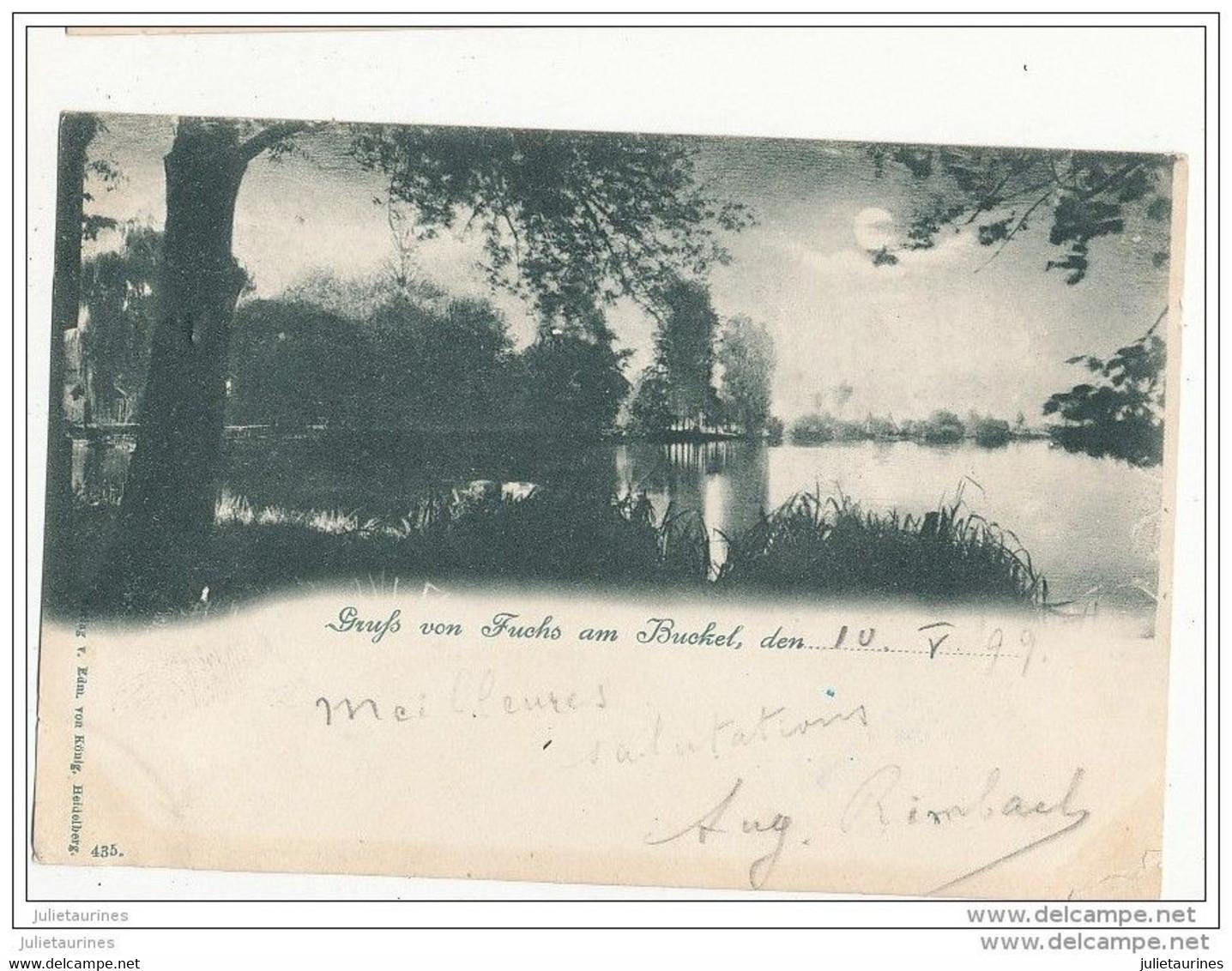 67 GRUFS VON FUCHS AM BUCKEL DES PRES DE STRASBOURG CPA 1899 BON ETAT - Other Municipalities