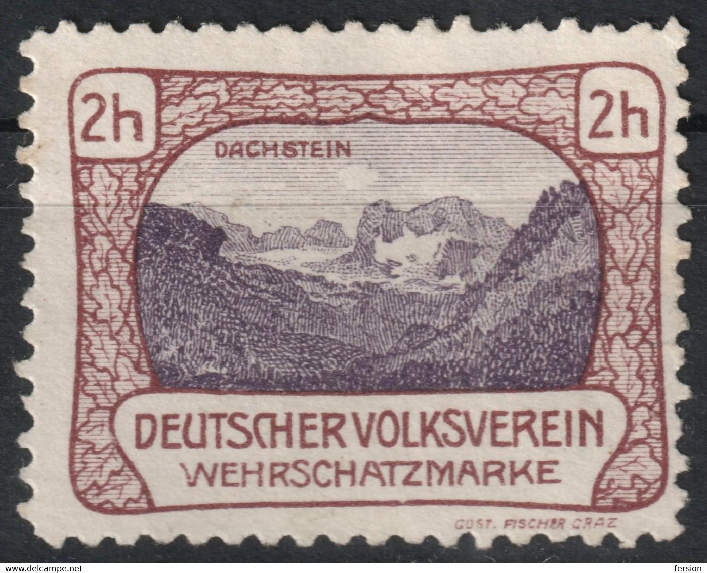 DACHSTEIN ALPS Mountain Deutscher Volksverein  LABEL CINDERELLA VIGNETTE Austria GRAZ 1900's - Sin Clasificación