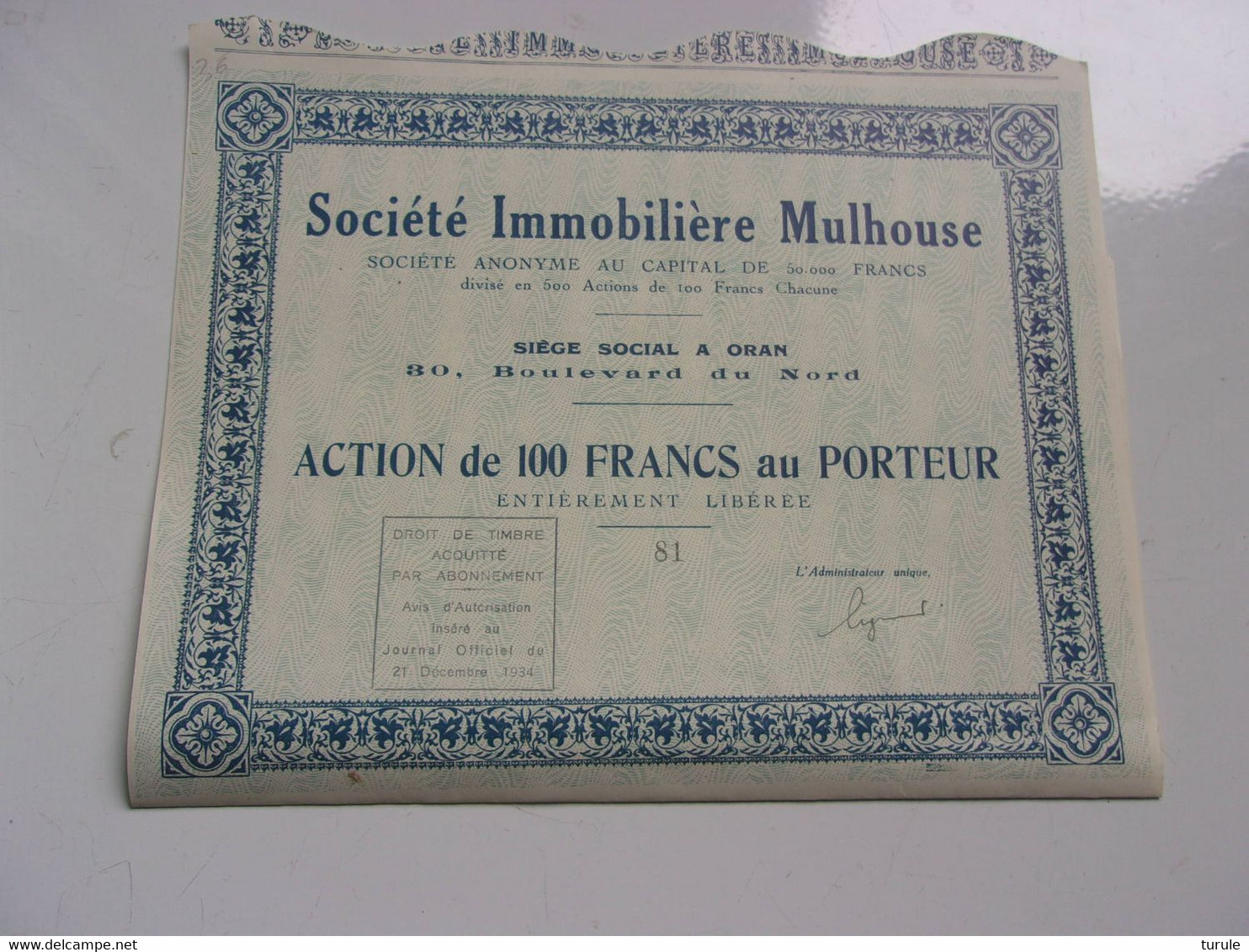 IMMOBILIERE MULHOUSE (oran,algérie) - Unclassified